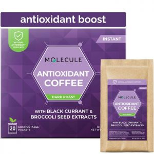 ANTIOXIDANT INSTANT COFFEE WITH BLACK CURRANT AND BROCCOLI SEED EXTRACTS