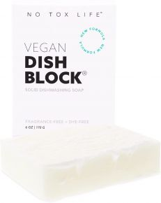 No Tox Life | Dish Washing Block Soap - Free of Dyes and Fragrance - Zero Waste