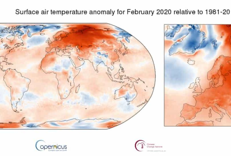 This winter in Europe was hottest on record by far, say scientists